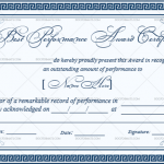Best Performance Certificate Template (Dark Blue, Customize in Word)