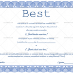 Best Teacher Award Certificate Template (white, Editable Certificate)