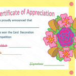 Appreciation Certificate Template (Decorating, Blank Template)