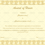 Award of honor Template  (Golden Blocks, Editable Certificate)
