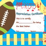 17 Appreciation Certificate Template (Football, Printable Design)