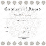 17 Award Certificate Template (Snow Flower, modern certificate design in word format) (1)
