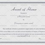 Award of honor Template  (Gray Borders, Printable Blank Certificate)