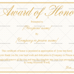 Award of Honor Template (Vintage Gold, Blank Award Certificate)