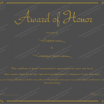 19 Award Certificate Template (Golden Black, Editable award certificates)