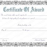 2 Award Certificate Template (Black, modern certificate design)