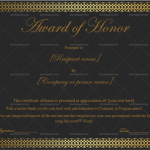 2 Award of honor Template (Black & Gold, Printable in Word)