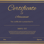 Appreciation Certificate Template (Royal, Editable Format)