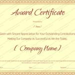 20 Award Certificate Template (Retirement, printable award certificate)