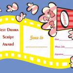 21 Award Certificate Template (Drama, Editable award certificates for students)