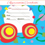 Appreciation Certificate Template (Shapes, Design in Word)