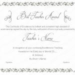 23 Award Certificate Template (Best Teacher, printable certificates of achievement)