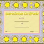 Appreciation Certificate Template (Sun, Printable and Editable)