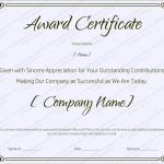 24 Award Certificate Template (Blank, certificate of appreciation in Doc & PDF)