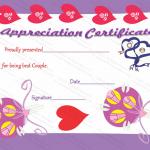 Appreciation Certificate Template (True Love, Customizable Template)
