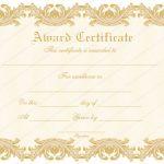 26 Award Certificate Template (Delicate, award certificate design)