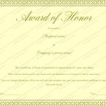 27 Award Certificate Template (Honor, award certificate format)