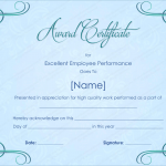 28 Award Certificate Template (Sky Blue, modern certificate design)