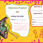 Appreciation Certificate Template (Cooking, Editable Template in Word)