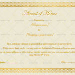 3 Award of honor Template (Light Brown, Certificate of Excellence)