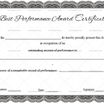 Best Performance Certificate Template  (Black,Certificate of Excellence)