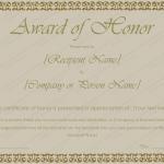 30 Award Certificate Template (Light Green, editable certificate of appreciation)