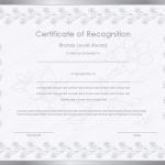 31 Award Certificate Template (Silver, long service award certificate)