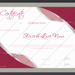 33 Award Certificate Template (Violet, Doc Word)