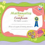 4 Award Certificate Template (Mathematics, modern certificate design in word format)