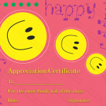 Appreciation Certificate Template (Be Happy, Customizable Template)