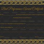 Best Performance Certificate Template (Golden Blocks, Blank Design)