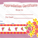 Appreciation Certificate Template (Best Cake, Blank Template)