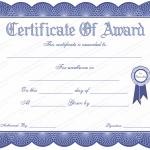 6 Award Certificate Template (General, Editable and Printable in Word)