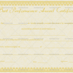 est Performance Certificate Template (Vintage, Customize in Word)
