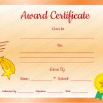 7 Award Certificate Template (Stars, printable award certificate)
