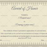 Award of honor Template (Elegent, Editable Certificate )