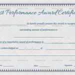 Best Performance Certificate Template (Indigo, Editable Certificate)