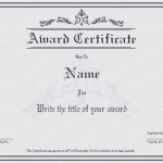8 Award Certificate Template (Grey, Editable and Printable in Word)
