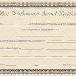 Best Performance Certificate Template (Stars, Printable Blank Certificate)