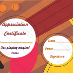 9 Appreciation Certificate Template (Music, Blank appreciation certificate)