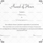 Award of honor Template (Grey, Blank Award Certificate)