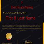 Award Certificate (Academic, Long service award certificate)
