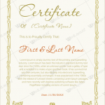 Award Certificate (Formal, Certificate of Excellence)