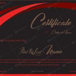 Award Certificate (Royal Red, Printable and Editable)