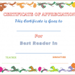 Best Reader Award Certificate (Editable Award Certificate)