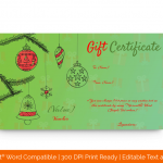 Christmas-Decorations-Gift-Certificate-in-Word-(Green,-85478)