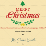 Christmas-Gift-Certificate-(Leaves,-#18333)