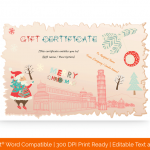Christmas-Holiday-Travelling-Gift-Certificate-Template