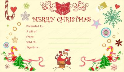 Christmas Certificate Border.Christmas Gift Certificate Template Editable Printable
