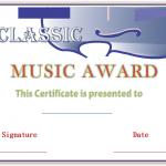Classic-Music-Award-Certificate (Modern Certificate Design)